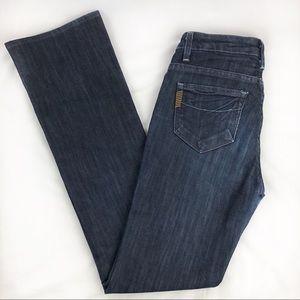 Paige Jeans Rising Glen Dark Wash Boot Cut High